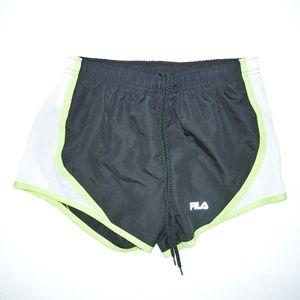 Fila Sz S Black/Neon Yellow Workout Dri-fit Shorts